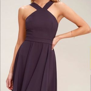 Forevermore Dusty Purple Skater Homecoming Dress